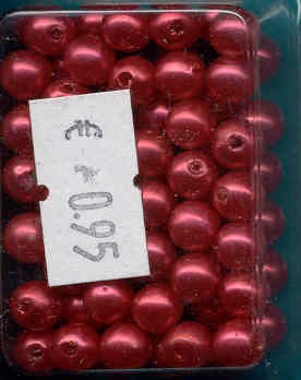 Acrylparel 6 mm: Rood