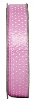 DC: Spotted ribbon; Soft Pink