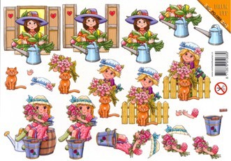 VBK: Die Cut: Girl with Flowers