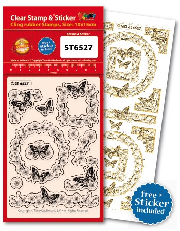 Doodey: Clear Stamp; Butterflies Corners and Border