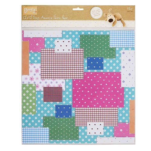 12x12 S/A Fabric Paper - Boofle™ (Fabric Patchwork)