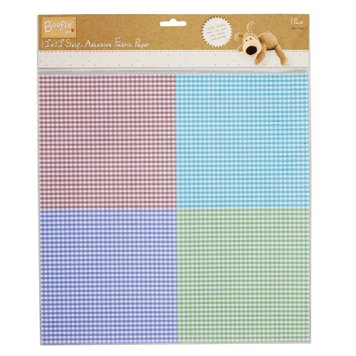 12x12 S/A Fabric Paper - Boofle™ (Quad Floral)