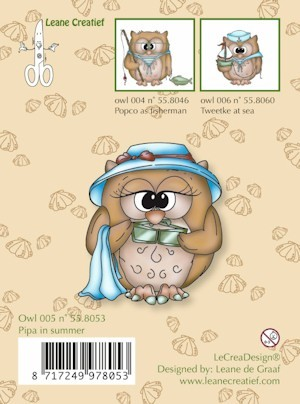 Leane: Clear stamp: Owl Pipa in Summer
