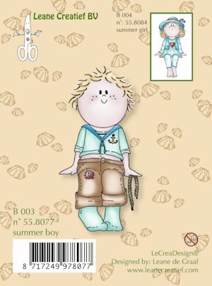 Leane: Clear stamp: Bambini Summer boy