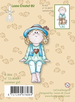 Leane: Clear stamp: Bambini Summer girl