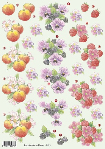 F&F: Anne; Bloemen en Fruit =Flowers and Fruits