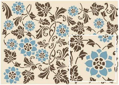 To Do Soft Paper: Powder Blue Arabesque
