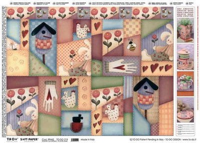 To Do Soft Paper: Country Patchwork 2
