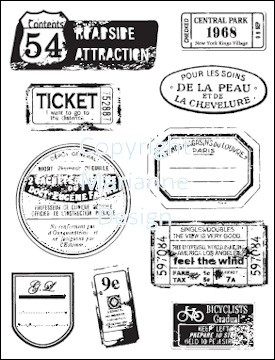MD: Clear Stamp; Labels & Tickets