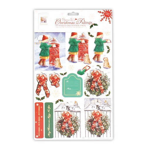 DC: A4 Foiled Decoupage Pack Christmas Tidings 2