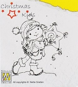 NS: Clear Stamp; Christmas Kids, Like my star?