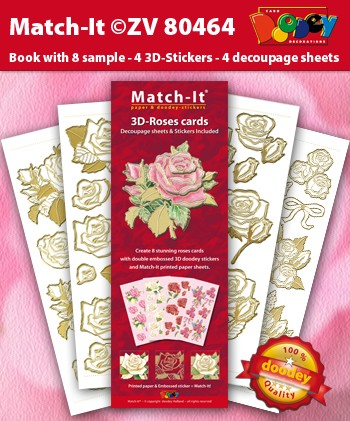 Doodey Match It: 3D Roses Cards
