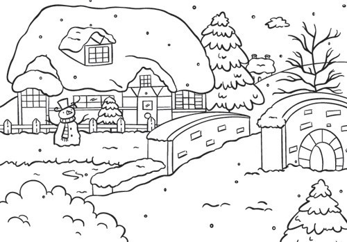 NS: Picture Folder; Snowy House