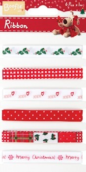 DC: Ribbon set (6x1 mtr) Boofle Christmas