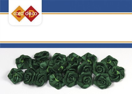 Carddeco: Flowers 15 mm 20 pcs; Groen