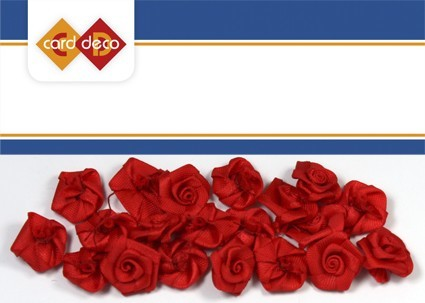 Carddeco: Flowers 15 mm 20 pcs; Rood