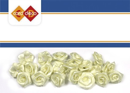Carddeco: Flowers 15 mm 20 pcs; Creme