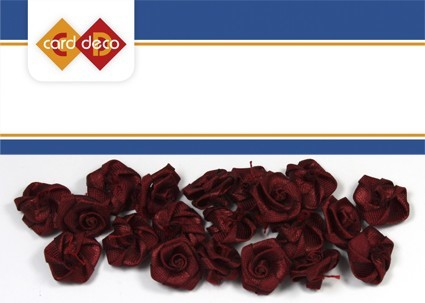Carddeco: Flowers 15 mm 20 pcs; Bordeaux