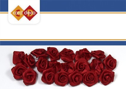 Carddeco: Flowers 15 mm 20 pcs; Donkerrood