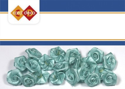 Carddeco: Flowers 15 mm 20 pcs; Lichtblauw