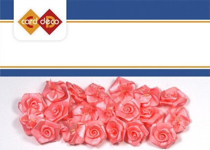 Carddeco: Flowers 15 mm 20 pcs; Rose