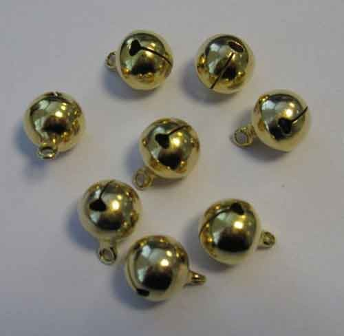 H&C: Jewelry Bells; 12 mm, 8 pcs, GOLD