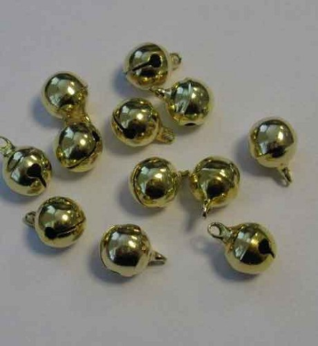 H&C: Jewelry Bells; 10 mm, 12 pcs, GOLD