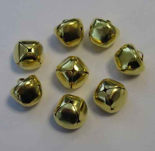 H&C: Christmas Bells; 15 mm - 8 pcs, GOLD