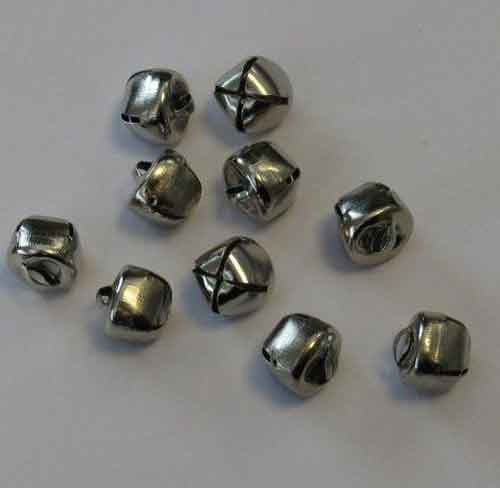 H&C: Christmas Bells; 12 mm - 10 pcs, SILVER