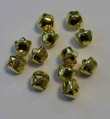 H&C: Christmas Bells; 10 mm - 12 pcs, GOLD