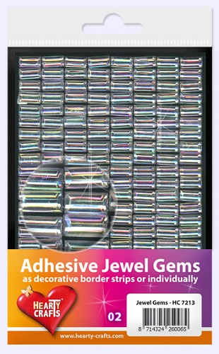 Hearty Craft: Adhesive Jewel Gems; Rectangle 10 x 5 mm