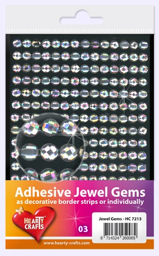 Hearty Craft: Adhesive Jewel Gems; Crystal 6 mm