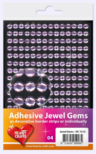 Hearty Craft: Adhesive Jewel Gems; Lilac 6 mm