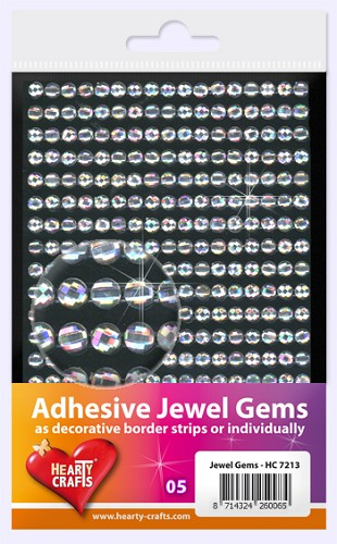 Hearty Craft: Adhesive Jewel Gems; Crystal 5 mm