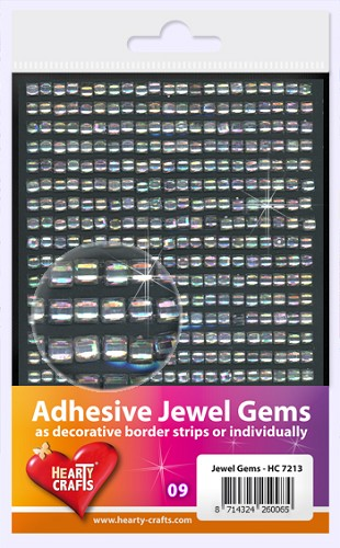 Hearty Craft: Adhesive Jewel Gems; Crystal Square 4 mm