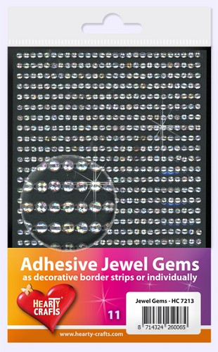 Hearty Craft: Adhesive Jewel Gems; Crystal 3 mm