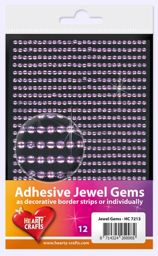Hearty Craft: Adhesive Jewel Gems; Lilac 3 mm