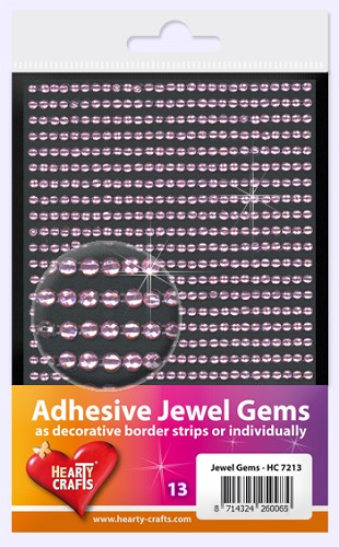 Hearty Craft: Adhesive Jewel Gems; Pink 3 mm