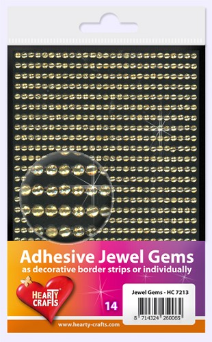 Hearty Craft: Adhesive Jewel Gems; Yellow 3mm
