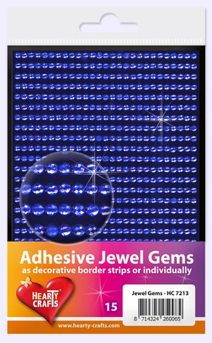 Hearty Craft: Adhesive Jewel Gems; Blue 3 mm