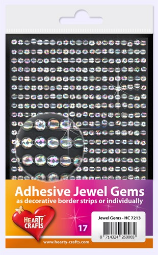 Hearty Craft: Adhesive Jewel Gems; Crystal 4 mm