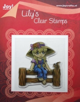 Joy!: Clear Stamp; Lily op hek