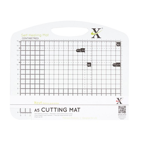 X-Cut: A5 Self Healing Duo Cutting Mat - Black + White