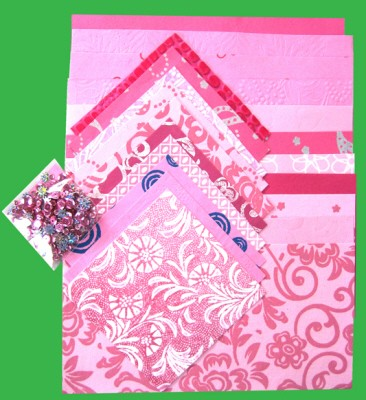 Handmade Paper Pack A4: Pink