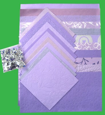 Handmade Paper Pack A4: Lilac