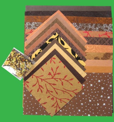 Handmade Paper Pack A4: Brown