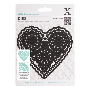 X-Cut: Dies; Vintage Notes- Filigree Heart
