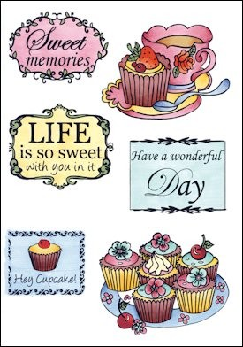 MD: Clear Stamp; Tea and Cupcakes