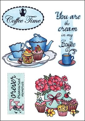MD: Clear Stamp; Coffee Time