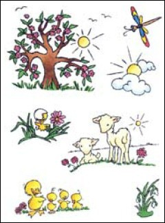 MD: Clear Stamp; Don & Daisy, Theme Spring